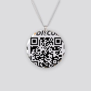 Bitcoin QR Code Necklace