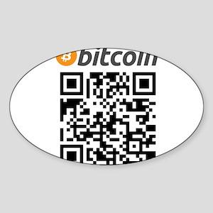 Bitcoin QR Code Sticker