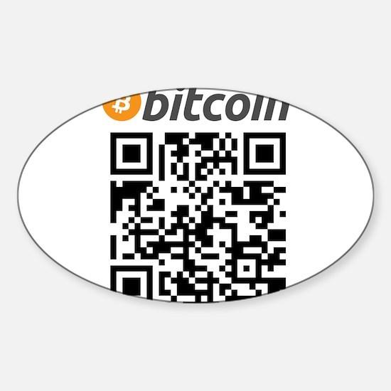 Bitcoin QR Code Decal