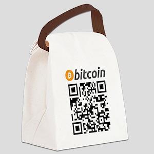 Bitcoin QR Code Canvas Lunch Bag