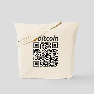 Bitcoin QR Code Tote Bag