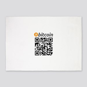 Bitcoin QR Code 5'x7'Area Rug