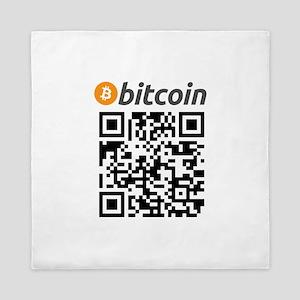 Bitcoin QR Code Queen Duvet