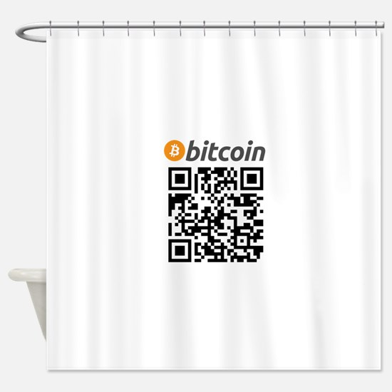 Bitcoin QR Code Shower Curtain
