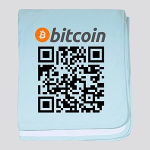 Bitcoin QR Code baby blanket