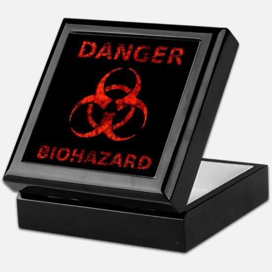 Biohazard Warning Sign Keepsake Box