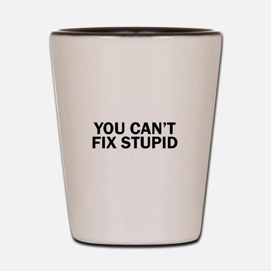 you cant fix stupid funny hilarious, Shot Glass