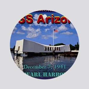 USS Arizona Round Ornament