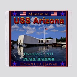 USS Arizona Throw Blanket