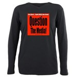 Question Media Plus Size Long Sleeve Tee