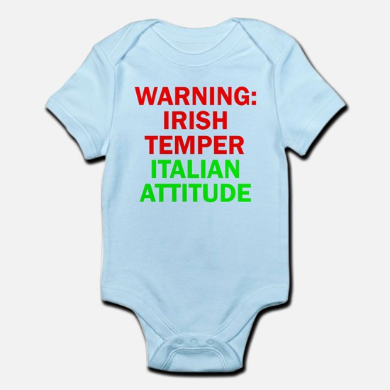 WARNINGIRISHTEMPER ITALIAN ATTITUDE.psd Body Suit