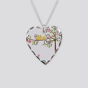 familytree Necklace Heart Charm