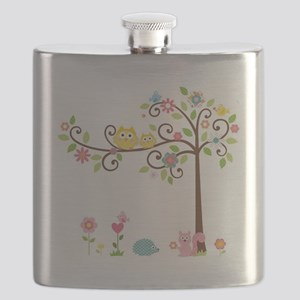Owl family tree Flask