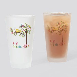 Owl family tree Drinking Glass