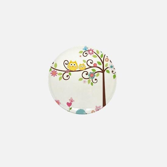 Owl family tree Mini Button (10 pack)