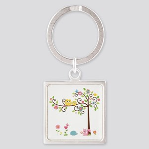 Owl family tree Keychains