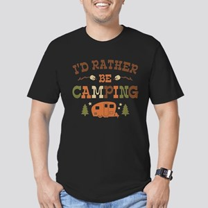 Rather Be Camping C1 Men's Fitted T-Shirt (dark)