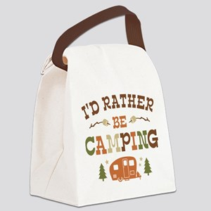 Rather Be Camping C1 Canvas Lunch Bag