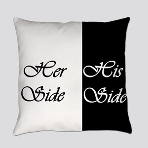 Her Side His Side Everyday Pillow
