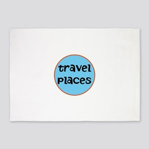 travel places 5'x7'Area Rug