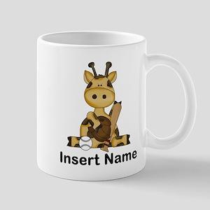 baseball giraffe personalized Mug