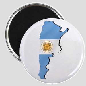 Argentina Flag Map Magnets