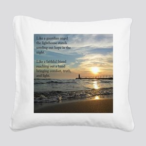 Lighthouse Square Canvas Pillow