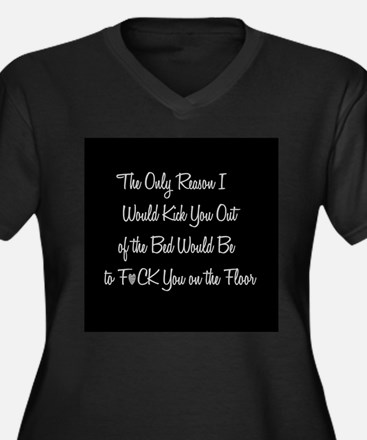 Naughty: F*ck on the floor Plus Size T-Shirt