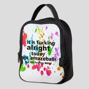 fn alright today Neoprene Lunch Bag