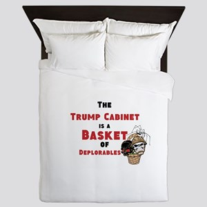 Trump cabinet, basket of deplorables Queen Duvet