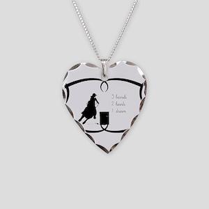 Barrel Racing 3 barrels Necklace Heart Charm