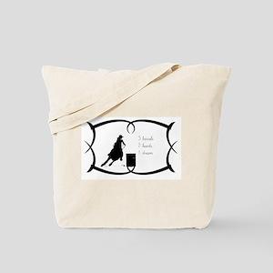 Barrel Racing 3 barrels Tote Bag