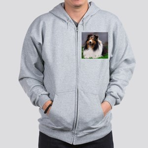 sheltie art canvas Hooded Sweatshirt