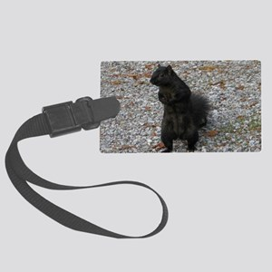 Black Squirrel With Attitude Large Luggage Tag