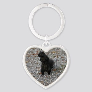 Black Squirrel With Attitude Keychains