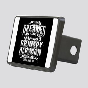 Grumpy old man Rectangular Hitch Cover