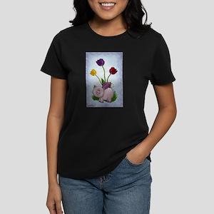 Piggy and Flowers T-Shirt