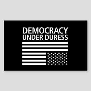 Democracy Under Duress • Sticker (Rectangle)
