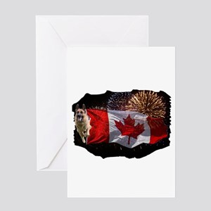 German Shepherd Canada New Year Greeting Cards
