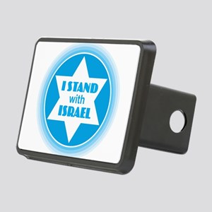 I Stand with Israel Rectangular Hitch Cover