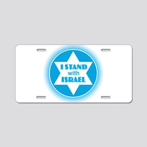 I Stand with Israel Aluminum License Plate