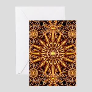 Honey Star Mandala Greeting Cards
