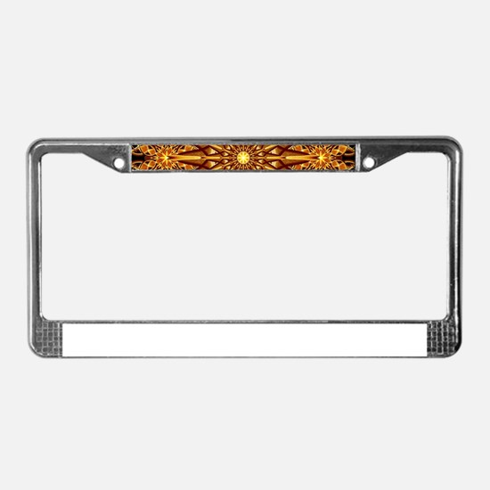 Honey Star Mandala License Plate Frame