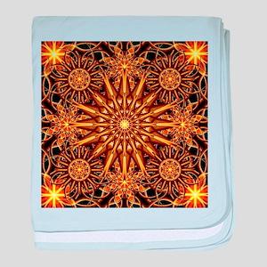Honey Star Mandala baby blanket