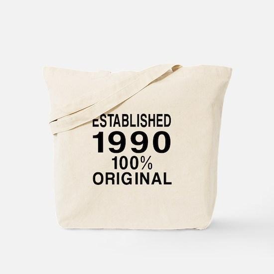 Est.Since 1990 Tote Bag