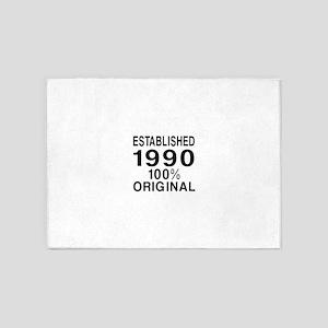 Est.Since 1990 5'x7'Area Rug