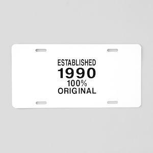 Est.Since 1990 Aluminum License Plate