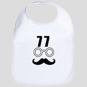 77 Birthday Designs Cotton Baby Bib