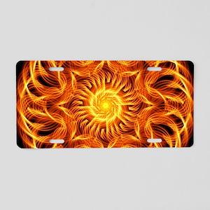 Holy Fire Mandala Aluminum License Plate