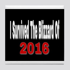 I Survived The Blizzard Of 2016 Tile Coaster
